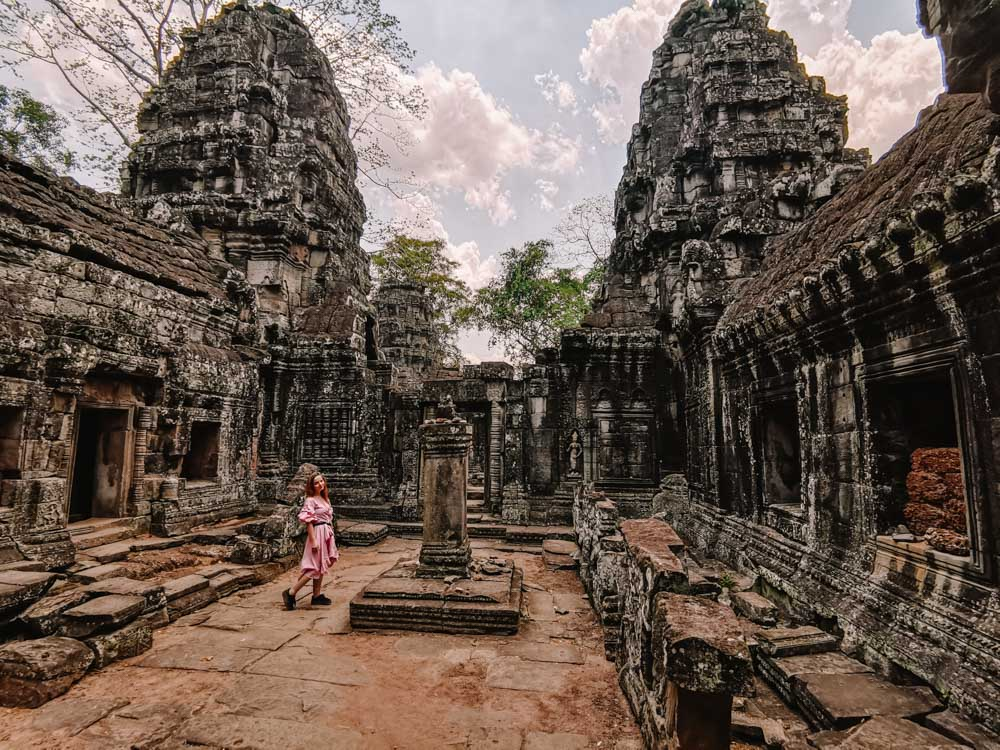 Banteay Kdei temple in Siem Reap Cambodia