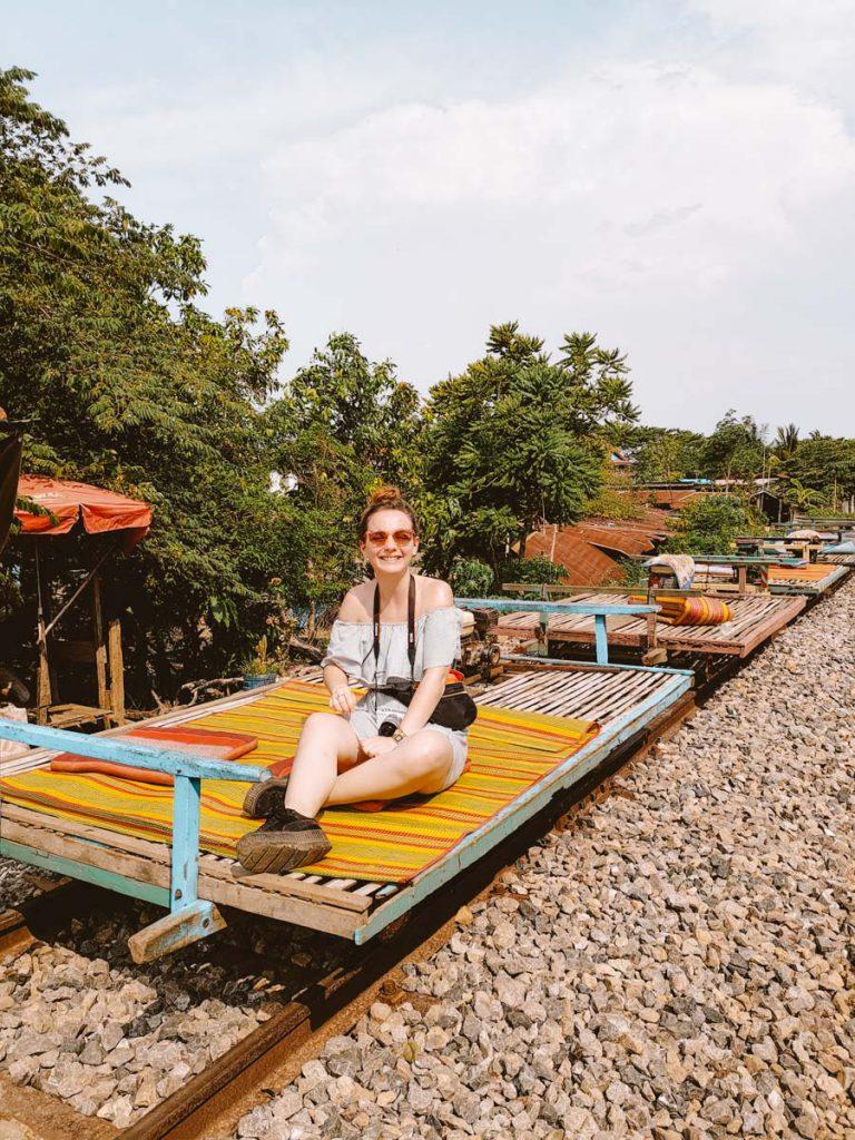 Bamboo train in Battambang Cambodia