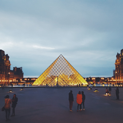 Louvre Pyramid taken when I lived abroad in Paris in 2015