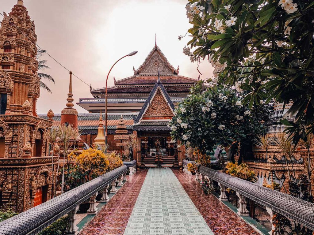Pagoda in Siem Reap Cambodia