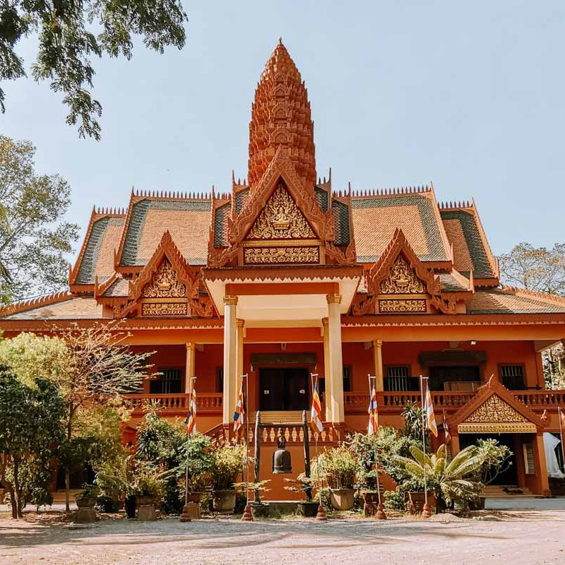 Wat Bo pagoda temple in Siem Reap Cambodia