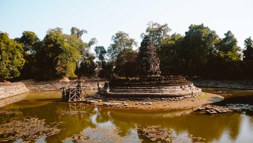 Neak Pean water temple in Siem Reap, Cambodia
