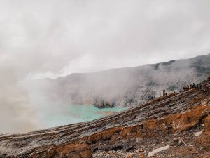 Climbing the Ijen Crater